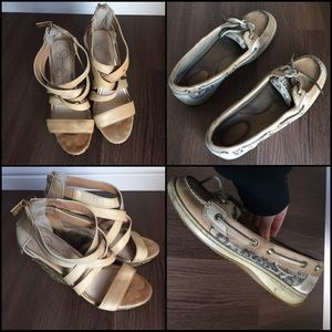 Set of Two Pairs of Shoes: Wedges and Sperrys